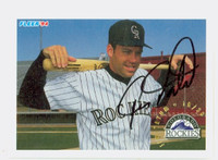 Jim Tatum AUTOGRAPH 1994 Fleer Rockies 