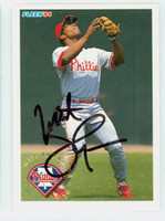 Milt Thompson AUTOGRAPH 1994 Fleer Phillies 