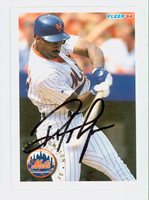 Ryan Thompson AUTOGRAPH 1994 Fleer Mets 