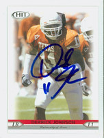 Derrick Johnson AUTOGRAPH 2005 Sage Hit Football 