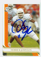 Derrick Johnson AUTOGRAPH 2005 Press Pass Football #G38 