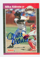 Mike Aldrete AUTOGRAPH 1989 Donruss Giants 