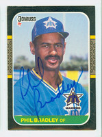 Phil Bradley AUTOGRAPH 1987 Donruss Mariners 