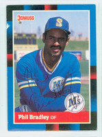 Phil Bradley AUTOGRAPH 1988 Donruss Mariners 
