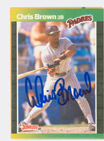 Chris Brown AUTOGRAPH d.06 1989 Donruss Padres 