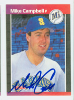 Mike Campbell AUTOGRAPH 1989 Donruss Mariners 