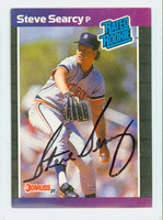 Steve Searcy AUTOGRAPH 1989 Donruss Tigers 