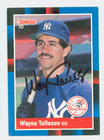 Wayne Tolleson AUTOGRAPH 1988 Donruss Yankees 