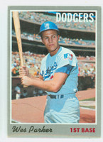 1970 Topps Baseball 5 Wes Parker Los Angeles Dodgers Good to Very Good