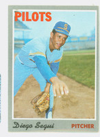 1970 Topps Baseball 2 Diego Segui Seattle Pilots Excellent