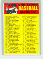 1970 Topps Baseball 128 b Checklist Two PERIOD  Very Good