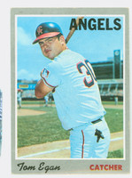 1970 Topps Baseball 4 Tom Egan California Angels Good to Very Good