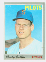 1970 Topps Baseball 31 Marty Pattin Seattle Pilots Good to Very Good