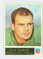 1965 Philadelphia 128 Sam Baker Philadelphia Eagles Very Good