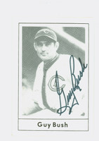 Guy Bush AUTOGRAPH d.85 1978 Grand Slam Cubs 