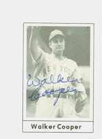 Walker Cooper AUTOGRAPH d.91 1978 Grand Slam Giants 