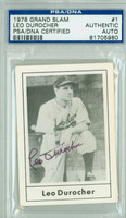 Leo Durocher AUTOGRAPH d.91 1978 Grand Slam Dodgers PSA/DNA 