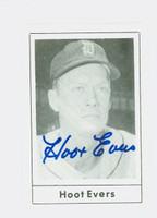 Hoot Evers AUTOGRAPH d.91 1978 Grand Slam Tigers 