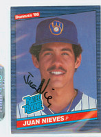 Juan Nieves AUTOGRAPH 1986 Donruss #40 Brewers 