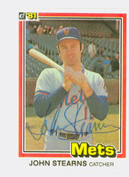John Stearns AUTOGRAPH 1981 Donruss #35 Mets 