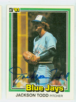 Jackson Todd AUTOGRAPH 1981 Donruss #31 Blue Jays 