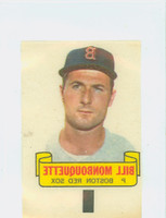 1966 Topps Rub Offs 68 Bill Monbouquette Boston Red Sox Excellent
