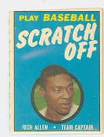 1970 Topps Scratch Off Baseball Richie Allen Philadelphia Phillies Fair to Good