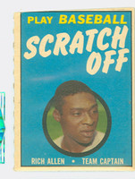 1970 Topps Scratch Off Baseball Richie Allen Philadelphia Phillies Very Good to Excellent