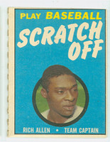 1970 Topps Scratch Off Baseball Richie Allen Philadelphia Phillies Excellent