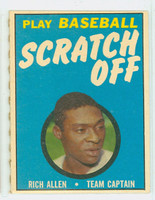 1970 Topps Scratch Off Baseball Richie Allen Philadelphia Phillies Near-Mint