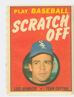 1970 Topps Scratch Off Baseball Luis Aparicio Chicago White Sox Near-Mint