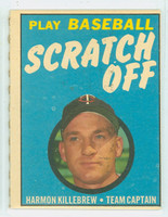 1970 Topps Scratch Off Baseball Harmon Killebrew Minnesota Twins Very Good