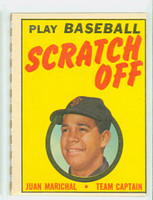 1970 Topps Scratch Off Baseball Juan Marichal San Francisco Giants Excellent