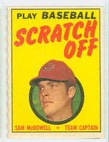 1970 Topps Scratch Off Baseball Sam McDowell Cleveland Indians Near-Mint