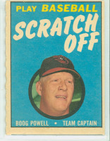 1970 Topps Scratch Off Baseball Boog Powell Baltimore Orioles Excellent