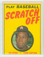 1970 Topps Scratch Off Baseball Jim Wynn Houston Astros Very Good to Excellent