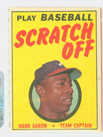 1971 Topps Scratch Off Baseball Hank Aaron Atlanta Braves Excellent