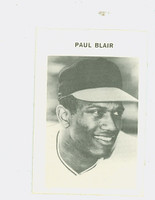 1972 Milton Bradley Baseball 33 Paul Blair Baltimore Orioles Near-Mint Plus