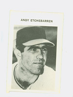 1972 Milton Bradley Baseball 101 Andy Etchebarren Baltimore Orioles Excellent