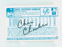 Chris Chambliss AUTOGRAPH 1970s Kelloggs Back Signed 1977 Yankees 