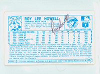 Roy Howell AUTOGRAPH 1970s Kelloggs Back Signed 1979 Blue Jays 
