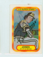 Randy Jones AUTOGRAPH 1970s Kelloggs 1977 Padres 