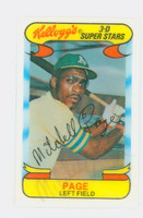 Mitchell Page AUTOGRAPH d.11 1970s Kelloggs 1978 Athletics SIG IS LIGHT