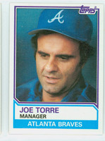 1983 Topps Baseball 126 Joe Torre Atlanta Braves Near-Mint to Mint