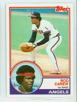 1983 Topps Baseball 200 Rod Carew California Angels Near-Mint to Mint
