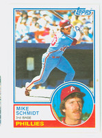 1983 Topps Baseball 300 Mike Schmidt Philadelphia Phillies Near-Mint to Mint