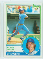 1983 Topps Baseball 350 Robin Yount Milwaukee Brewers Near-Mint to Mint