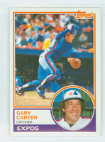 1983 Topps Baseball 370 Gary Carter Montreal Expos Near-Mint to Mint