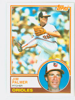 1983 Topps Baseball 490 Jim Palmer Baltimore Orioles Near-Mint to Mint