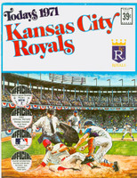 1971 Dell Official Stamp Booklet Kansas City Royals Excellent to Mint